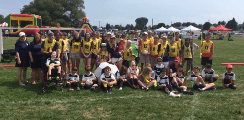 2016 Just For Kicks players and volunteers at the YearEnd FunFest